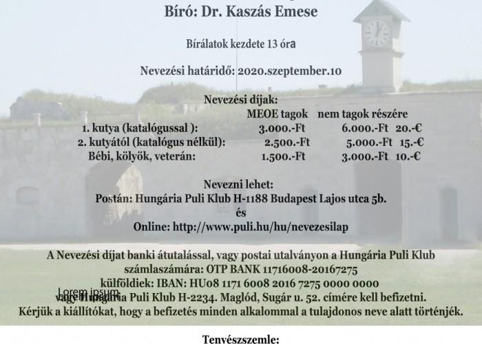 Hungária Puli Klub Speciál CAC kiállítás és tenyés